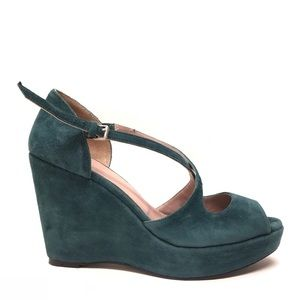 BODEN Suede Crossover Wedges 41 / 10